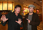 "Guiding Light's Frank Dicopoulos ""Frank Cooper"" and Daniel Cosgrove ""Billy Lewis"" donated their time for Young Women's Breast Cancer Awareness Foundation by going to Pittsburgh, PA on October 7, 2008 and went Pink with Panera. They visited three of 27 Panera Bread locations during the day where 100% of sales from their Pink Ribbon bagels went to the foundation and a portion of those sales all during the month of October. For more information go to www.breastcancerbenefit.org. The day started out with Star 100.7 and the hosts Kate and JR interviewed Frank Dicopoulos. The two actors then went to the CBS studio in Pittsburgh in the morning. The day was a great hit. (Photo by Sue Coflin/Max Photos)"