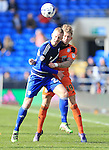 Cardiff's Lex Immers tussles with Ipswich's Luke Hyam during the Sky Bet Championship League match at The Cardiff City Stadium.  Photo credit should read: David Klein/Sportimage