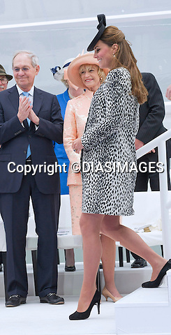 KATE, DUCHESS OF CAMBRIDGE<br /> named a Princess Cruises' ship &quot;Royal Princess&quot;, in a ceremony at Ocean Terminal, Southampton_13/06/2013<br /> This is Kate's last official engagement before the birth of her baby. <br /> Mandatory Credit Photo: &copy;Francis Dias/DIASIMAGES<br /> <br /> **ALL FEES PAYABLE TO: &quot;NEWSPIX INTERNATIONAL&quot;**<br /> <br /> IMMEDIATE CONFIRMATION OF USAGE REQUIRED:<br /> Newspix International, 31 Chinnery Hill, Bishop's Stortford, ENGLAND CM23 3PS<br /> Tel:+441279 324672  ; Fax: +441279656877<br /> Mobile:  07775681153<br /> e-mail: info@newspixinternational.co.uk