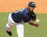 24 February 2008: Florida International pitcher Akeem Francis (10) throws in the Southern California 12-7 victory over FIU at University Park Stadium in Miami, Florida.
