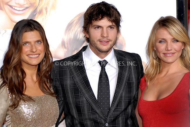 WWW.ACEPIXS.COM . . . . .....May 1, 2008. Los Angeles, CA.....Actors Lake Bell, Ashton Kutcher, Cameron Diaz attend the 'What Happens in Vegas' premiere at the Mann Village Theatre...  ....Please byline: Joe West - ACEPIXS.COM..... *** ***..Ace Pictures, Inc:  ..Philip Vaughan (646) 769 0430..e-mail: info@acepixs.com..web: http://www.acepixs.com