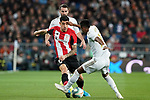 Real Madrid's Dani Carvajal (b) and Rodrigo Goes (r) and Athletic Club de Bilbao's Yuri Berchiche during La Liga match. December 22,2019. (ALTERPHOTOS/Acero)