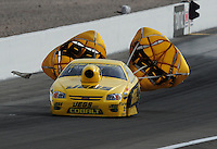Nov. 1, 2008; Las Vegas, NV, USA: NHRA pro stock driver Jeg Coughlin Jr during qualifying for the Las Vegas Nationals at The Strip in Las Vegas. Mandatory Credit: Mark J. Rebilas-