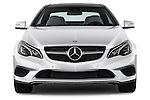 Straight front view of a 2014 Mercedes E Class 350 Coupe