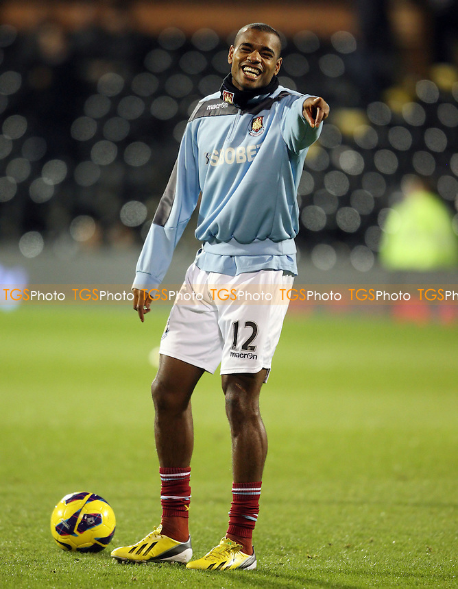 Ricardo Vaz Te of West Ham - Fulham vs West Ham United, Barclays Premier League at Craven Cottage, Fulham - 30/01/13 - MANDATORY CREDIT: Rob Newell/TGSPHOTO - Self billing applies where appropriate - 0845 094 6026 - contact@tgsphoto.co.uk - NO UNPAID USE.