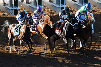 DEL MAR, CA - NOVEMBER 04: The field comes of the gates at the start of Sentient Jet Breeders' Cup Juvenile on Day 2 of the 2017 Breeders' Cup World Championships at Del Mar Thoroughbred Club on November 4, 2017 in Del Mar, California. (Photo by Ting Shen/Eclipse Sportswire/Breeders Cup)