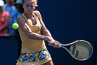 NEW YORK, NY - August 27, 2013: Camila Giorgi (ITA)  during her first round single's match at the 2013 US Open in New York, NY on Monday, August 26, 2013.