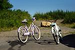 Two bicycles. Hammonasset State Beach Park, CT.