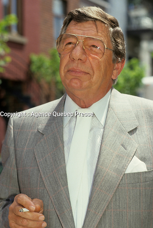 Montreal (Qc) CANADA - File Phot0 between 1991 and 1995 - Claude Blanchard at Juste Pour Rire news conference