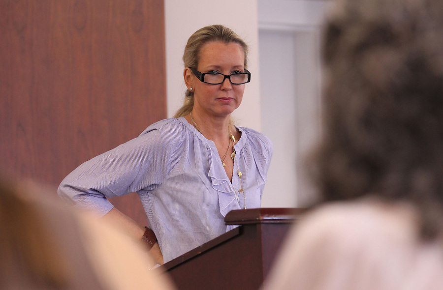 "March 18, 2011-Charlottesville, Virginia. USA; Virginia Bookfest author and rape victim Liz Securro spoke about her book ""Crash into me: Liz Seccurro's Story"" detailing her fight for justice Friday at Newcomb Hall.  Photo/Andrew Shurtleff..."