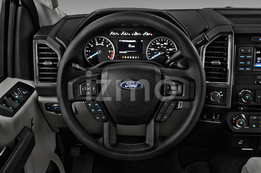 Car pictures of steering wheel view of a 2017 Ford F-350 XLT-Super 4 Door Pick-up Steering Wheel