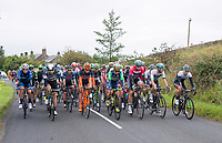 Picture by Allan McKenzie/SWpix.com - 04/09/2017 - Cycling - OVO Energy Tour of Britain - Stage 2 Kielder Water to Blyth - Peloton rolls out of Kielder water.