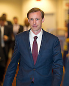 Jake Sullivan, top foreign policy advisor to Hillary Rodham Clinton's 2016 election campaign, departs following his deposition to the US House Select Committee to Investigate the 2012 Benghazi Attack, in the US Capitol in Washington, DC on Friday, September 4, 2015. <br /> Credit: Ron Sachs / CNP<br /> (RESTRICTION: NO New York or New Jersey Newspapers or newspapers within a 75 mile radius of New York City)