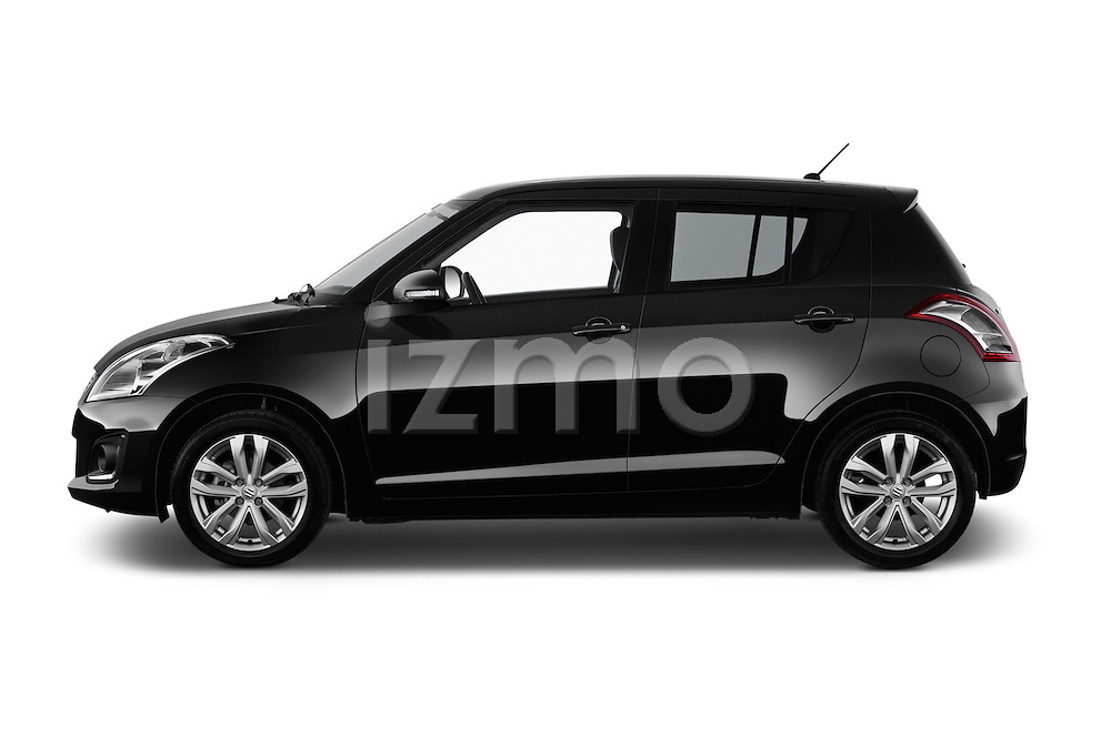 Car Driver side profile view of a2013 Suzuki SWIFT Grand Luxe @ttraction 5 Door Hatchback 2WD Side View