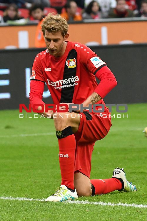 22.10.2016, BAYARENA, Leverkusen, GER, 1.FBL., Bayer 04 Leverkusen vs. TSG 1899 Hoffenheim  <br /> <br /> im Bild / picture shows: <br /> Stefan Kiessling (Leverkusen #11), kniet nach foul im Strafraum <br /> <br /> <br /> <br /> Foto &copy; nordphoto / Meuter