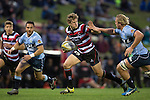 Richard Judd makes a break past Matt Matich. The game of Three Halves, a pre-season warm-up game between the Counties Manukau Steelers, Northland and the All Blacks, played at ECOLight Stadium, Pukekohe, on Friday August 12th 2016. Photo by Richard Spranger.