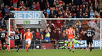 Bradford City's Eoin Doyle scores the first goal for his side during todays match<br /> <br /> Photographer Rachel Holborn/CameraSport<br /> <br /> The EFL Sky Bet League One - Blackpool v Bradford City - Saturday September 8th 2018 - Bloomfield Road - Blackpool<br /> <br /> World Copyright &copy; 2018 CameraSport. All rights reserved. 43 Linden Ave. Countesthorpe. Leicester. England. LE8 5PG - Tel: +44 (0) 116 277 4147 - admin@camerasport.com - www.camerasport.com