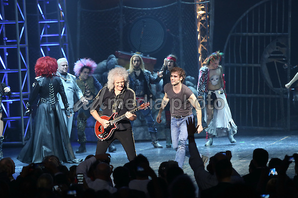 "Brian May attends the gala premiere of the musical ""We Will Rock You"" in Hamburg, Germany. Photo Credit: Andre Mischke/face to face/AdMedia"