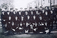 BNPS.co.uk (01202 558833)<br /> Pic: RobertMorley/BNPS<br /> <br /> Royal Navy crews for the manned CMB's in WW1.<br /> <br /> The world's first drone boat is rediscovered - after 100 years in the shadows.<br /> <br /> A historic British torpedo boat, which was converted into the world's first remotely controlled 'drone vessel' as part of a top secret project at the end of the Great War has been painstakingly researched and restored after being discovered rotting in a West country boatyard.<br /> <br /> The pioneering CMB9/DCB1 was one of 12 Coastal Motor Boats (CMBs) built by the Admiralty in 1916 to target German destroyers.<br /> <br /> The fast, lightweight 40ft motor torpedo boat, which could travel at 40 knots, sunk the German destroyer G88 off Zebrugge in Belgium in 1917.<br /> <br /> Subsequently, it was one of four vessels converted into Distance Control Boats (DCBs) for top secret trials to see if unmanned patrol boats with torpedoes could be radio controlled via aircraft and directed towards enemy targets.<br /> <br /> The boat was found in a sorry state covered in brambles in a boat yard in Weston-super-Mare, Somerset, by marine surveyor Robert Morley a decade ago, who has spent tens of thousands of pounds restoring and researching it's colourful history.