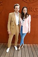Anna Brewster, Anatole Maggiar - Célébrités à Roland Garros - 7 juin 2017, Paris, France. # LES PEOPLE AU VILLAGE DE ROLAND GARROS - 07 JUIN 2017