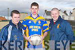 Tim McMahon and Fergal Clifford giving some encourging words to the CBS Capt Barry Shanahan in Training at Caherslee on Wednesday 27th February..   Copyright Kerry's Eye 2008