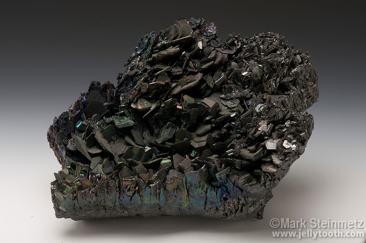 Specimen of carborundum (artificial), also known as silicon carbide. This compound has a crystal structure similar to diamonds and is nearly as hard. It's used industrially as an abrasive for cutting, grinding, polishing, as well as having electronic applications.
