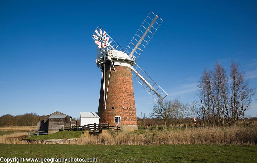 Horsey drainage mill windmill, Norfolk, England