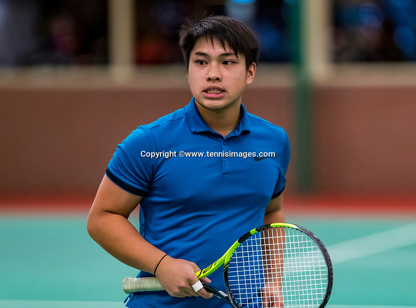 Wateringen, The Netherlands, November 27 2019, De Rhijenhof , NOJK 12 and16 years, Andy Huynh (NED)<br /> Photo: www.tennisimages.com/Henk Koster