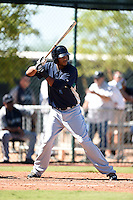 Seattle Mariners outfielder Hersin Martinez (12) during an Instructional League game against the Cleveland Indians on October 1, 2014 at Goodyear Training Complex in Goodyear, Arizona.  (Mike Janes/Four Seam Images)