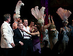 """Kelsey Grammer, Jerry Herman,  Douglas Hodges, Christina Andreas<br />during the Broadway Opening Night Performance Curtain Call for  """"La Cage Aux Folles""""  at the Longacre Theatre in New York City.<br />April 18, 2010"""