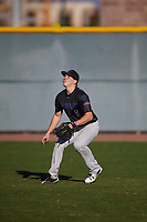 Michael May (8) of Clear Springs High School in League City, Texas during the Baseball Factory All-America Pre-Season Tournament, powered by Under Armour, on January 13, 2018 at Sloan Park Complex in Mesa, Arizona.  (Mike Janes/Four Seam Images)
