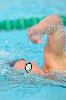15 October 2010:  FIU's Colleen Quinn competes in the 1,000 yard freestyle during the meet between the FIU Golden Panthers and the University of Miami Hurricanes at the Norman Whitten Student Union Pool in Coral Gables, Florida.