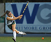 Julia Pascarella #19 of Carle Place follows through on a shot during the Nassau County varsity field hockey Class C final against Oyster Bay at Adelphi University on Saturday, Oct. 28, 2017. She and teammate Emiline Biggin (not in picture) scored two goals each in Carle Place's 5-0 win.