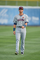 David Sheaffer (23) of the Tacoma Rainiers before the game against the Salt Lake Bees at Smith's Ballpark on May 27, 2019 in Salt Lake City, Utah. The Bees defeated the Rainiers 5-0. (Stephen Smith/Four Seam Images)