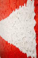 """SÃO PAULO,SP,02.04.2015- INSTITUTO TOMIE OHTAKE/""""100-101"""" - A exposição 100-101,com curadoria de Agnaldo Farias e Paulo Miyada,apresenta cerca de 30 telas concebidas pela artista entre seus 100 e 101 anos.Obras, especialmente gestuais, contam com a projeção de sombras sutis e a interpretação do olho do público para se conformarem.Do dia 1/04 à 7/06 das 11 ás 20 horas.Instituto Tomie Ohtake,região oeste da cidade de São Paulo na noite dessa quinta-feira,02.(FOTO:KEVIN DAVID/BRAZIL PHOTO PRESS)"""