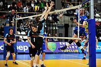GRONINGEN - Volleybal, Lycurgus - TT Papendal, Alfa College, Eredivisie,  seizoen 2018-2019, 31-01-2019,  /l18 verrast het blok