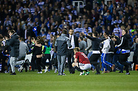 Fulham's Tim Ream looks dejected at the final whistle as fans invade the pitch after the match  <br /> <br /> <br /> Photographer Craig Mercer/CameraSport<br /> <br /> The EFL Sky Bet Championship Play-Off Semi Final Second Leg - Reading v Fulham - Tuesday May 16th 2017 - Madejski Stadium - Reading <br /> <br /> World Copyright &copy; 2017 CameraSport. All rights reserved. 43 Linden Ave. Countesthorpe. Leicester. England. LE8 5PG - Tel: +44 (0) 116 277 4147 - admin@camerasport.com - www.camerasport.com