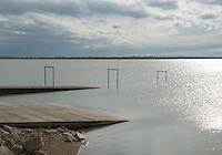 Lake Henry in Crowley County, Colorado, Wednesday, May 18, 2016. Lake Meredith Reservoir holds water for use in Crowley County, once a thriving agricultural community with over 50,000 acres of farm land. <br /> <br /> Photo by Matt Nager