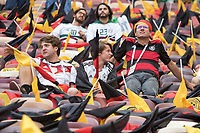 MOSCOW, RUSSIA - June 17, 2018: Germany fans wait for the start of their game against Mexico in the 2018 FIFA World Cup at Luzhniki Stadium.