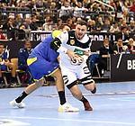 12.01.2019, Mercedes Benz Arena, Berlin, GER, Germany vs. Brazil, im Bild <br /> Jannik Kohlbacher (GER #48), Haniel Langaro (BRA #37)<br />      <br /> Foto &copy; nordphoto / Engler