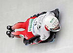 15 December 2006: Tania Morel from Switzerland, banks through a turn at the FIBT Women's World Cup Skeleton Competition at the Olympic Sports Complex on Mount Van Hoevenburg  in Lake Placid, New York, USA. &amp;#xA;&amp;#xA;Mandatory Photo credit: Ed Wolfstein Photo<br />