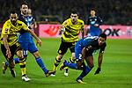 16.12.2017, Signal Iduna Park, Dortmund, GER, 1.FBL, Borussia Dortmund vs TSG 1899 Hoffenheim, <br /> <br /> im Bild | picture shows<br /> vl. Oemer Toprak (Borussia Dortmund #36) mit Sokratis (Borussia Dortmund #25) gegen Serge Gnabry (TSG 1899 Hoffenheim #29), <br /> <br /> Foto &copy; nordphoto / Rauch