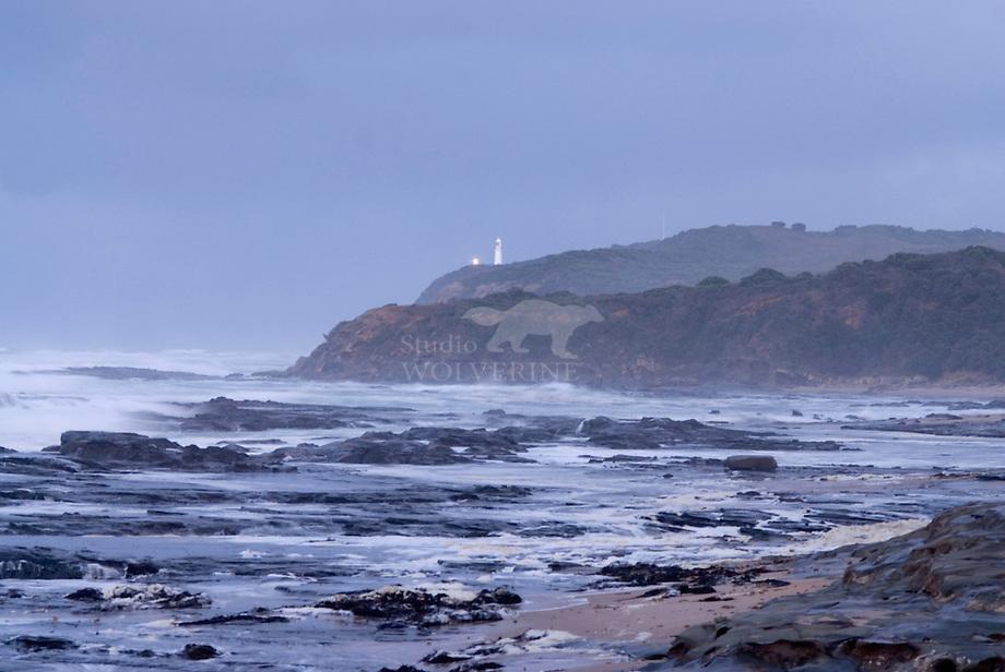 Storm langs de kust van Cape Otway Lighthousse