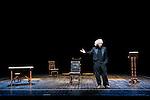 """El Brujo during theater play of """" Teresa o el Sol por Dentro"""" at Teatros del Cana in Madrid. September 13, Spain. 2016. (ALTERPHOTOS/BorjaB.Hojas)"""