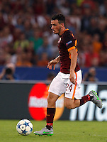 Calcio, Champions League, Gruppo E: Roma vs Barcellona. Roma, stadio Olimpico, 16 settembre 2015.<br /> Roma&rsquo;s Alessandro Florenzi in action during a Champions League, Group E football match between Roma and FC Barcelona, at Rome's Olympic stadium, 16 September 2015.<br /> UPDATE IMAGES PRESS/Riccardo De Luca<br /> <br /> *** ITALY AND GERMANY OUT ***