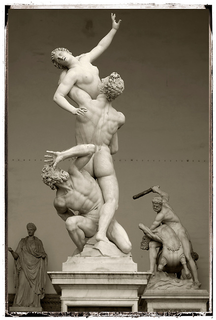 Statue- Rape Of The Sabines by Giambologna - The Loggia - Florence - Italy