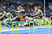 2nd February 2019, Karlsruhe, Germany;  60m Womens Final: Cindy Roleder (GER, 2nd place), Nadine Visser (NED, winner). IAAF Indoor athletics maeeting, Karlsruhe