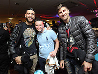 Pictured: Borja Gonzalez and Federico Fernandez Tuesday 06 December 2016<br />Re: Swansea City FC Christmas Party at the Liberty Stadium, Wales, UK