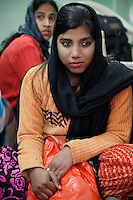 Dehradun, India.  Indian Muslim Woman with Nose Ring.