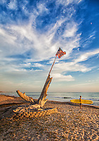 9/11 Flag Memorial at Poche Beach San Clemente